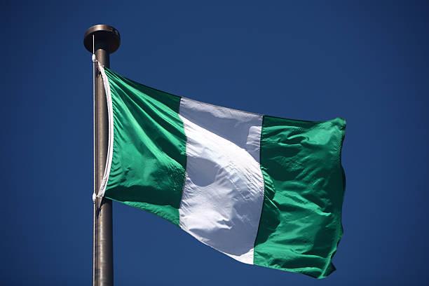 Flag of Nigeria stock photo