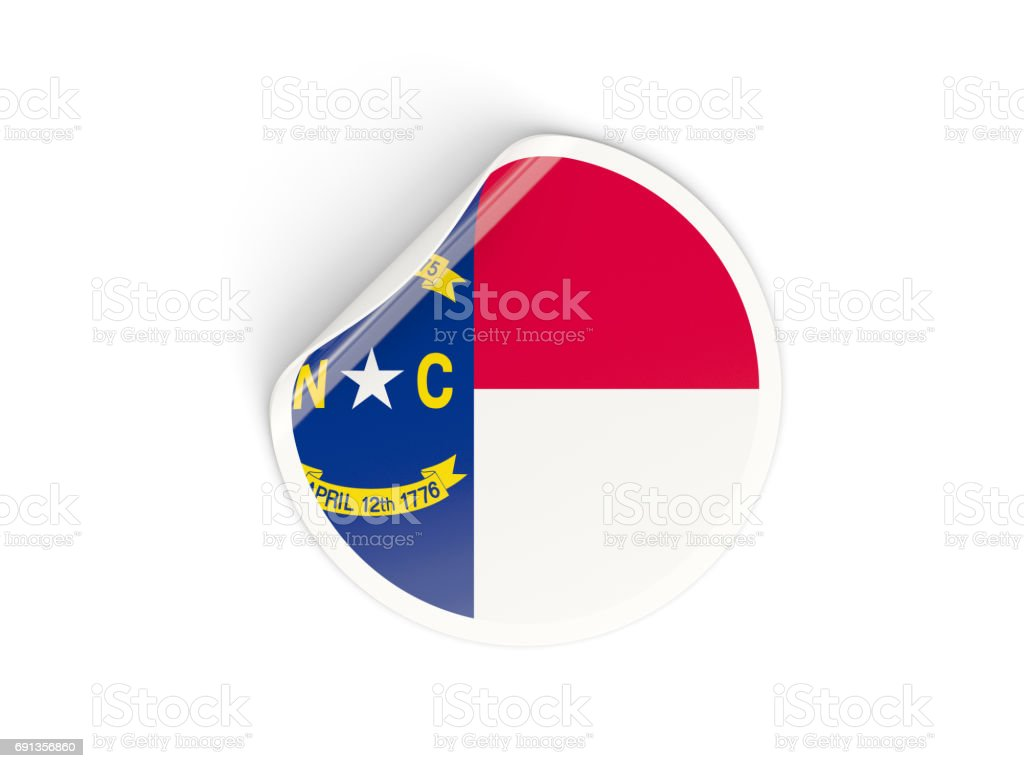 Flag of north carolina us state round sticker stock photo circle flag national flag north carolina state flag symbol buycottarizona