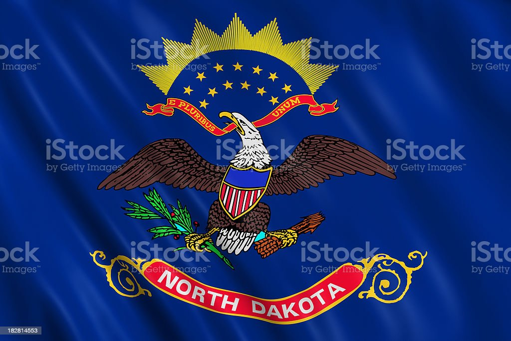 flag of north dakota stock photo