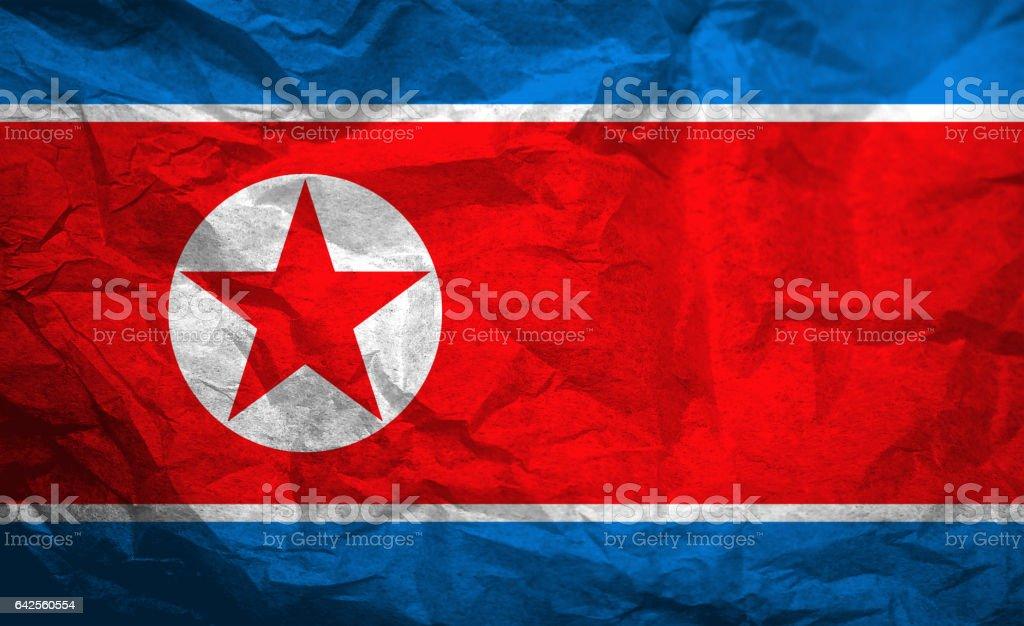 Flag of North Korea stock photo
