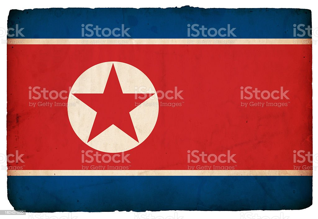 Flag of North Korea - XXXL royalty-free stock photo