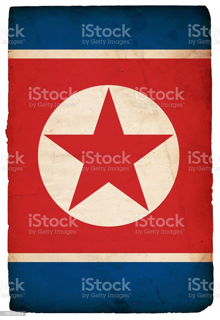 Flag of North Korea - XXXL stock photo