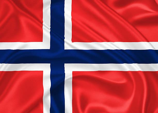 flag of norway - noorse vlag stockfoto's en -beelden