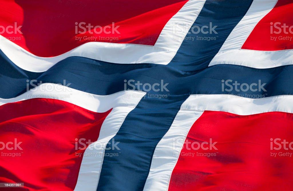 Bandeira da Noruega - fotografia de stock