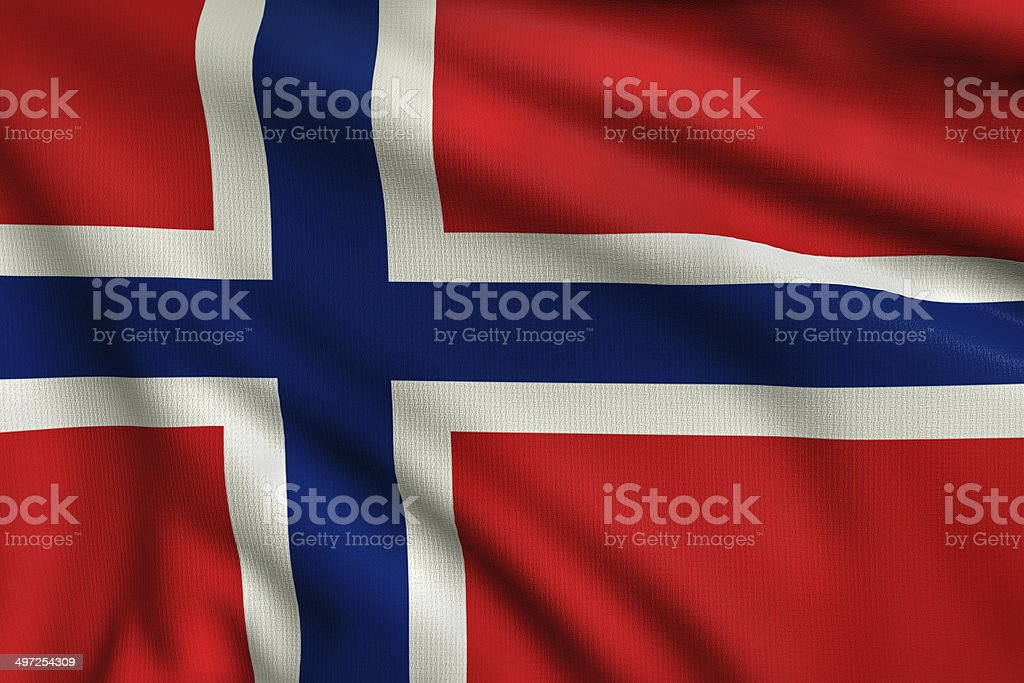 Flag of Norway royalty-free stock photo