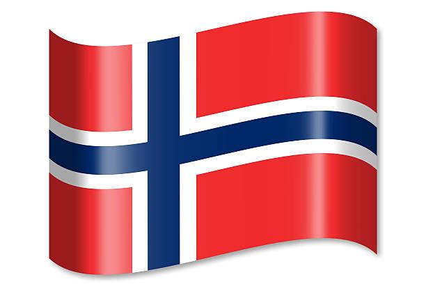 flagge von norwegen - norwegen fahne stock-fotos und bilder