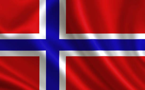 vlag van noorwegen. - noorse vlag stockfoto's en -beelden