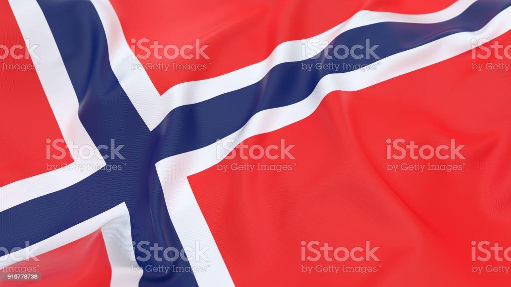 Flag of Norway - fotografia de stock