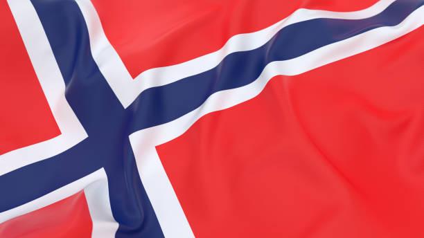 vlag van noorwegen - noorse vlag stockfoto's en -beelden