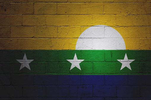 Flag of Nueva Esparta painted on a wall