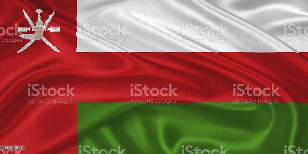 Flag of  Oman stock photo
