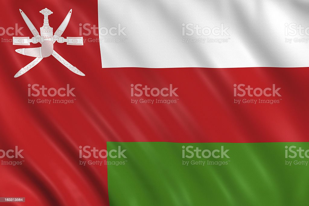 flag of oman royalty-free stock photo