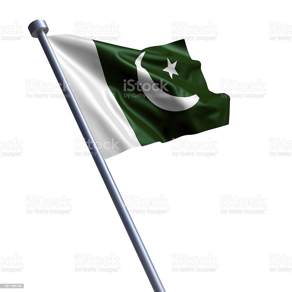 Flag of Pakistan isolated on white stock photo