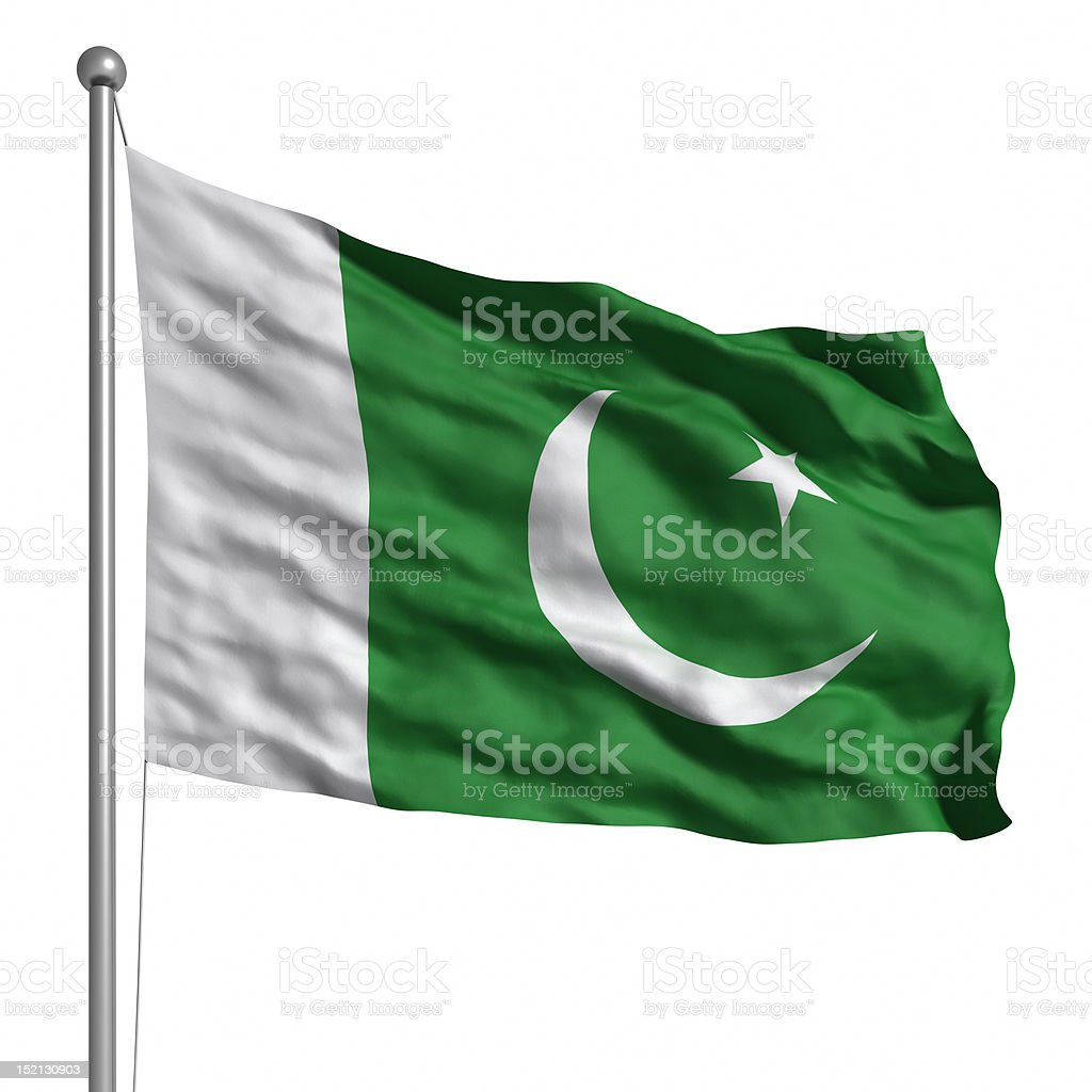 Flag of Pakistan (Isolated) stock photo