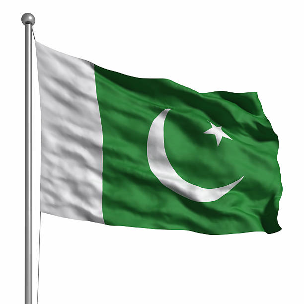 flag of pakistan (isolated) - pakistani flag stock photos and pictures