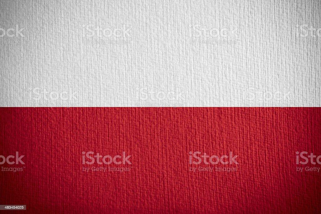 flag of Paland stock photo