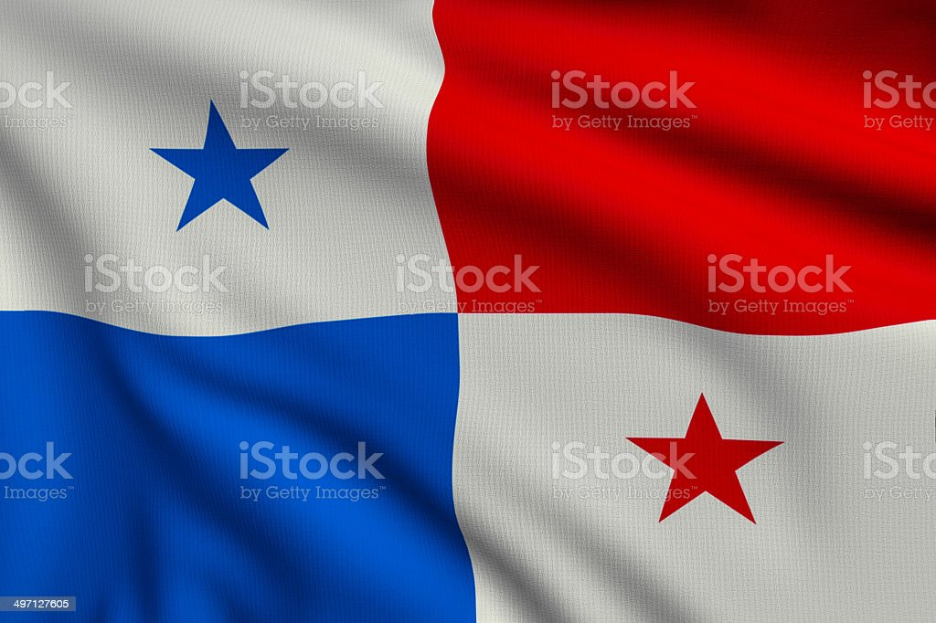 Flag of Panama royalty-free stock photo