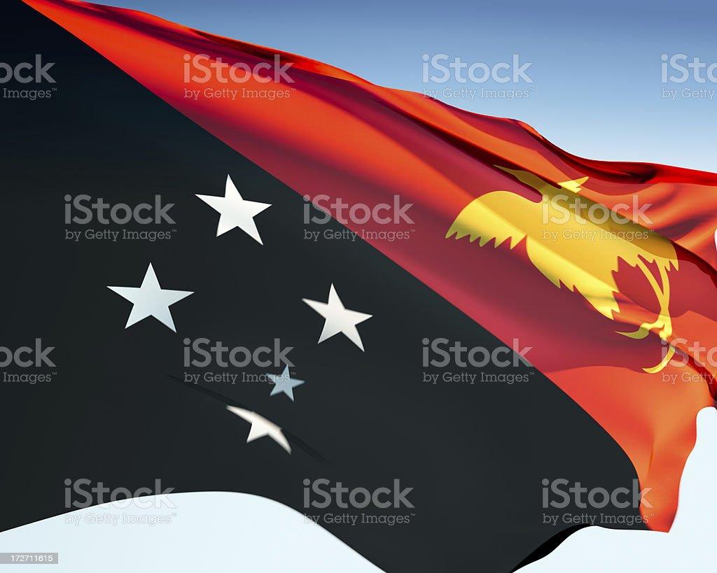 Flag of Papua New Guinea royalty-free stock photo