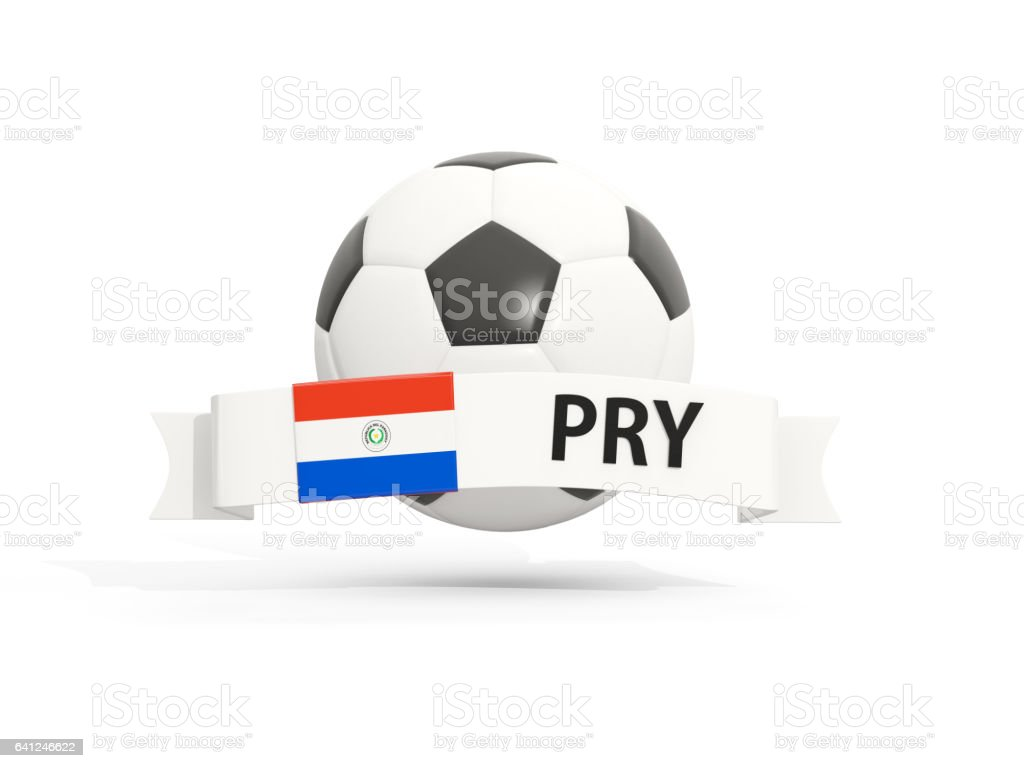Flag of paraguay football with banner and country code stock photo award ribbon banner sign flag national flag paraguayan flag buycottarizona