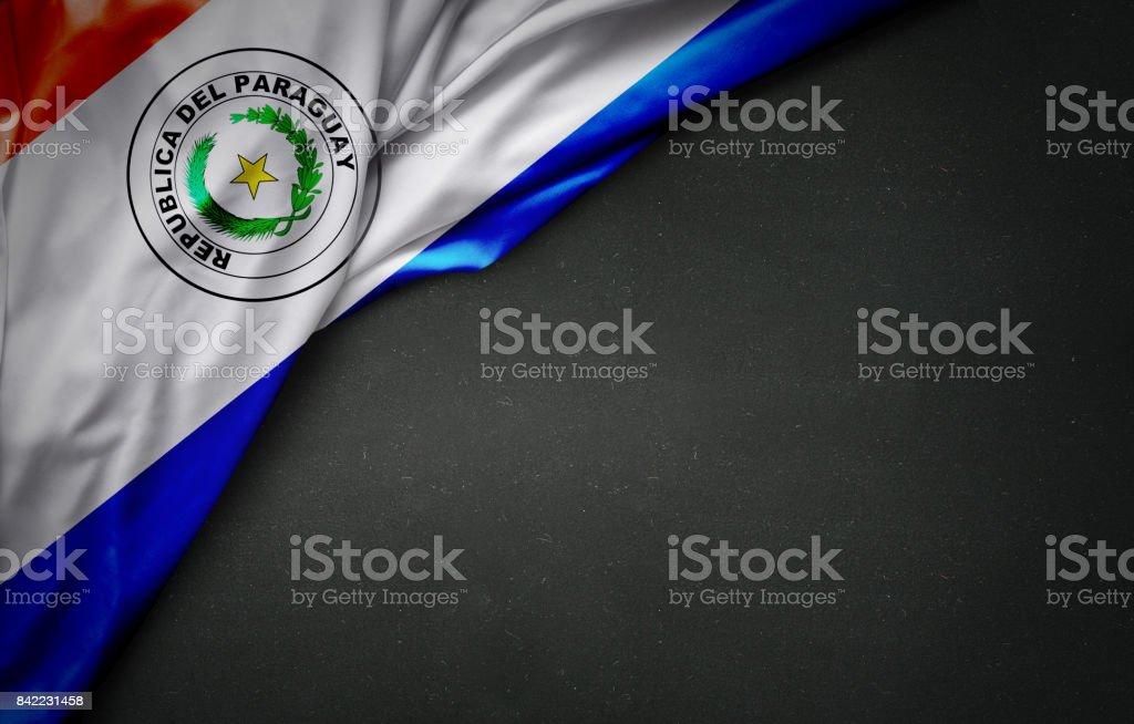 Bandera de Paraguay en pizarra - foto de stock