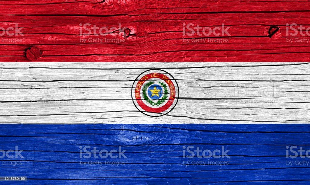 Bandera de Paraguay en la madera - foto de stock
