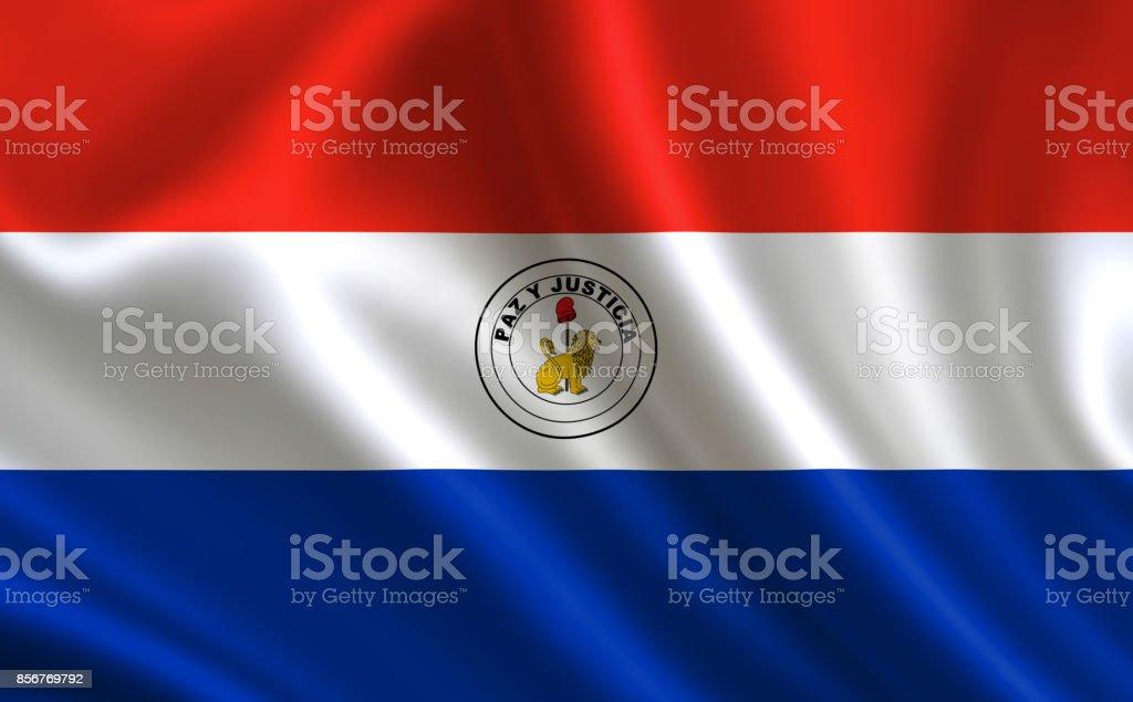 Bandera de Paraguay. Parte de la serie. - foto de stock