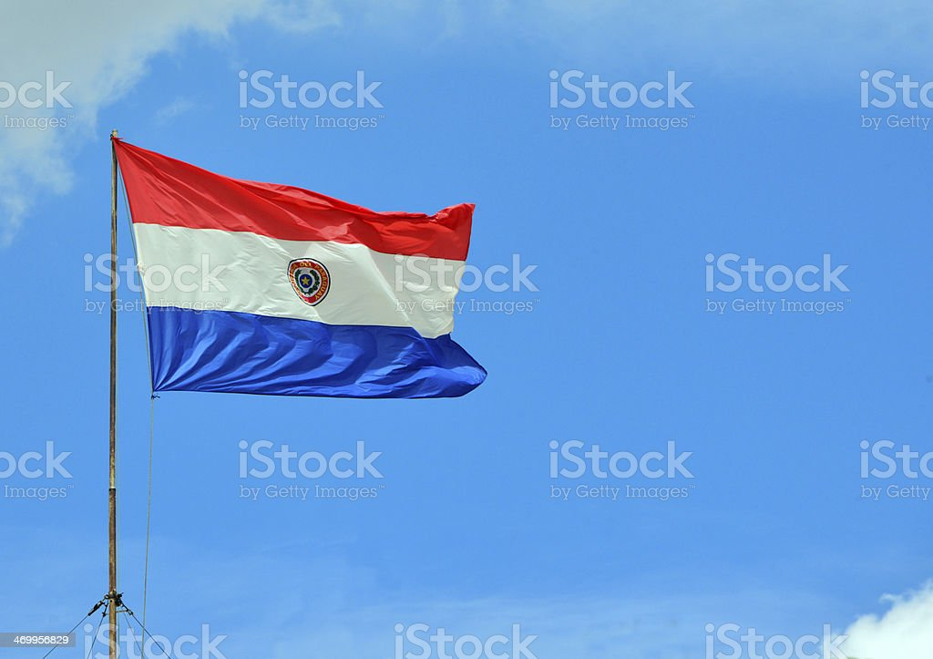 Flag of Paraguay stock photo
