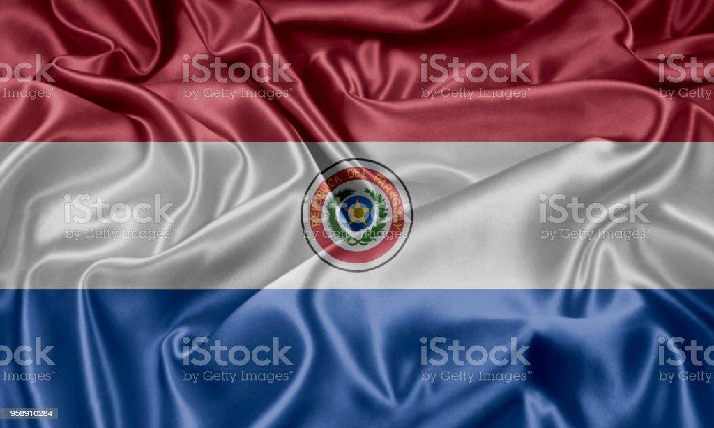 Bandera de Paraguay - foto de stock