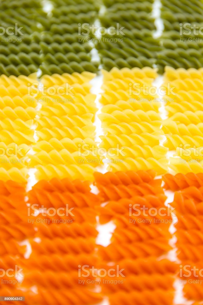 Flag of pasta stock photo