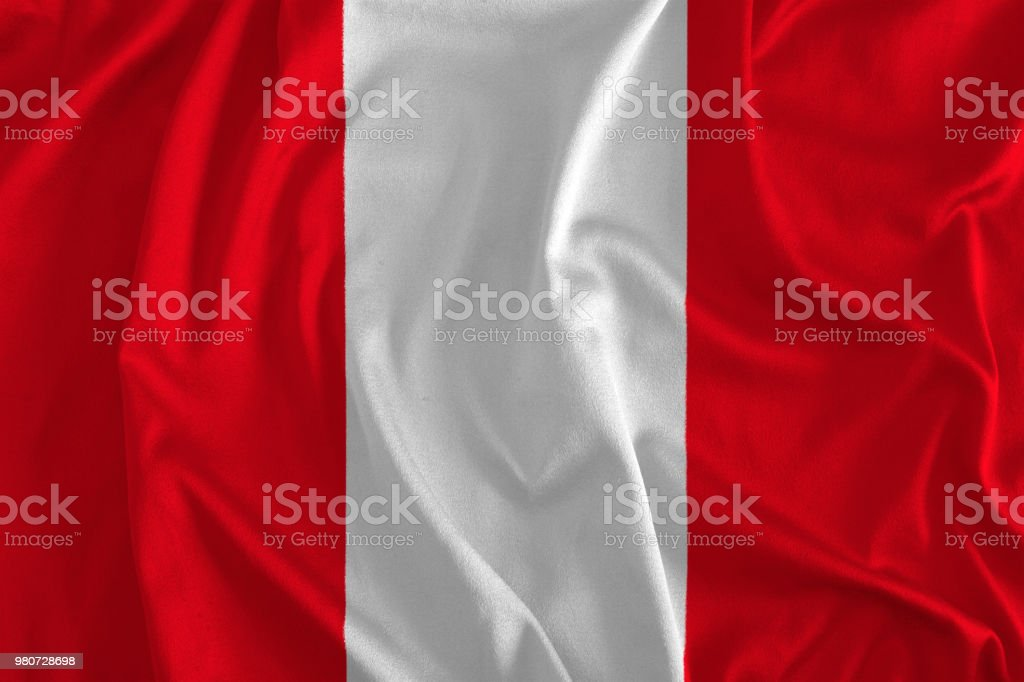 Flag of Peru Background stock photo