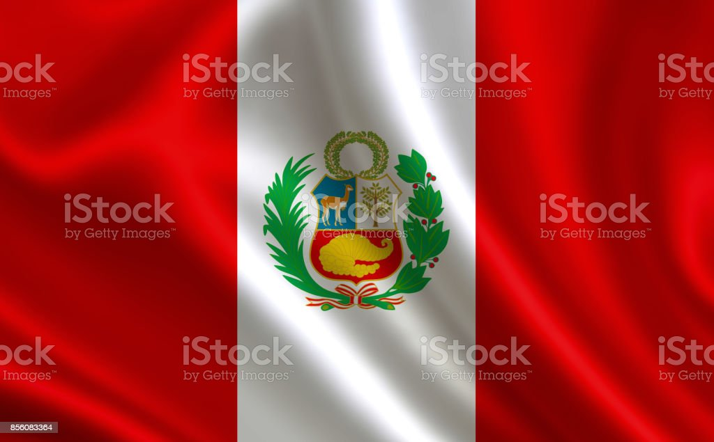 Flag of Peru. Part of the series. stock photo