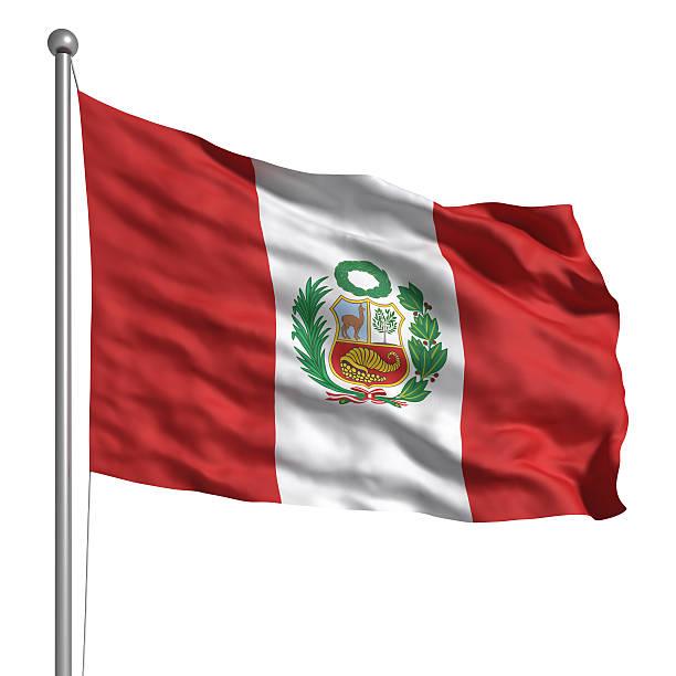Bandera de Perú (aislado - foto de stock