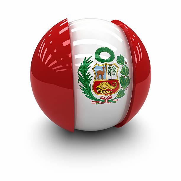 3 D-Flag de Perú - foto de stock