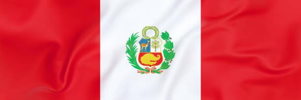 Flag of Peru stock photo