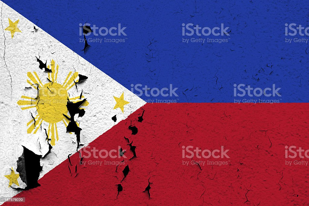 Flag of Philippines stock photo