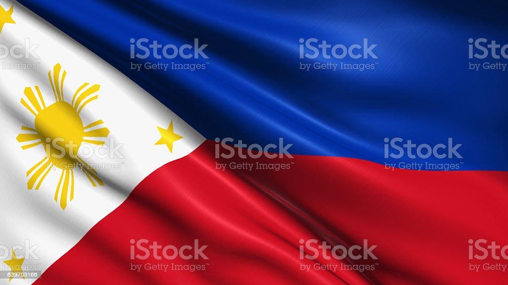 flag of Philippines stock photo