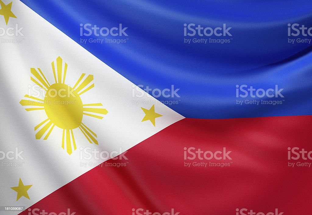 Flag of Philippines, the stock photo