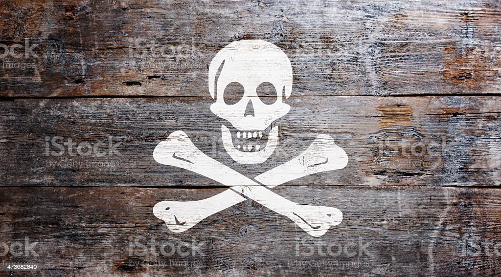 Flag of piracy stock photo