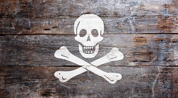 Bandera de la piratería - foto de stock