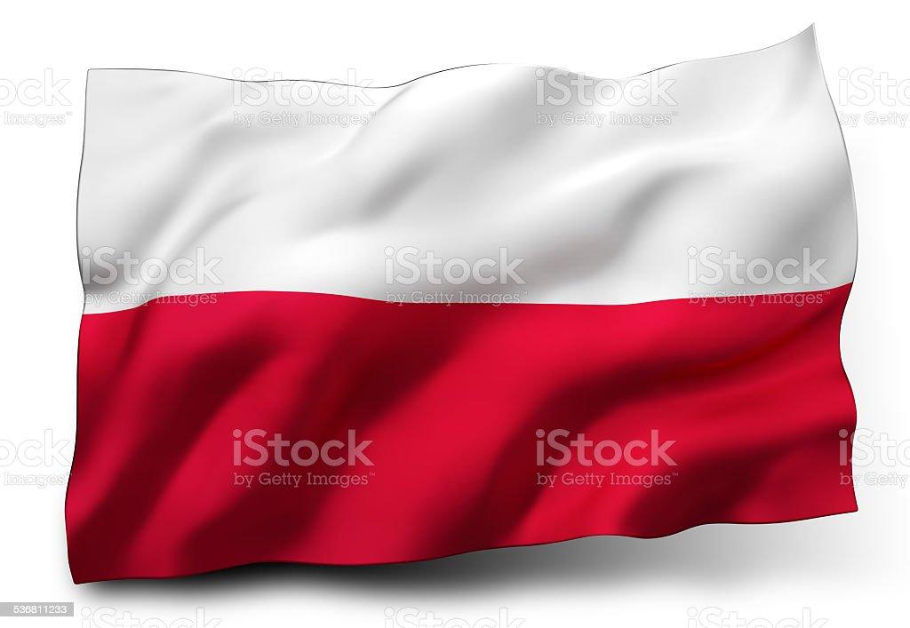 Flag of Poland stock photo