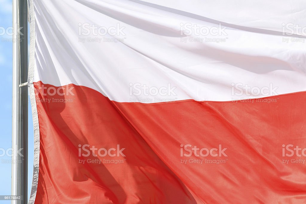 Flag of Poland royalty-free stock photo