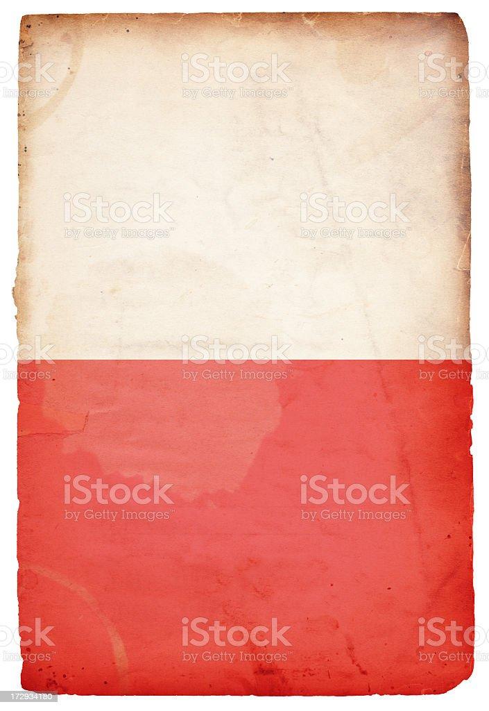 Flag of Poland XXXL royalty-free stock photo