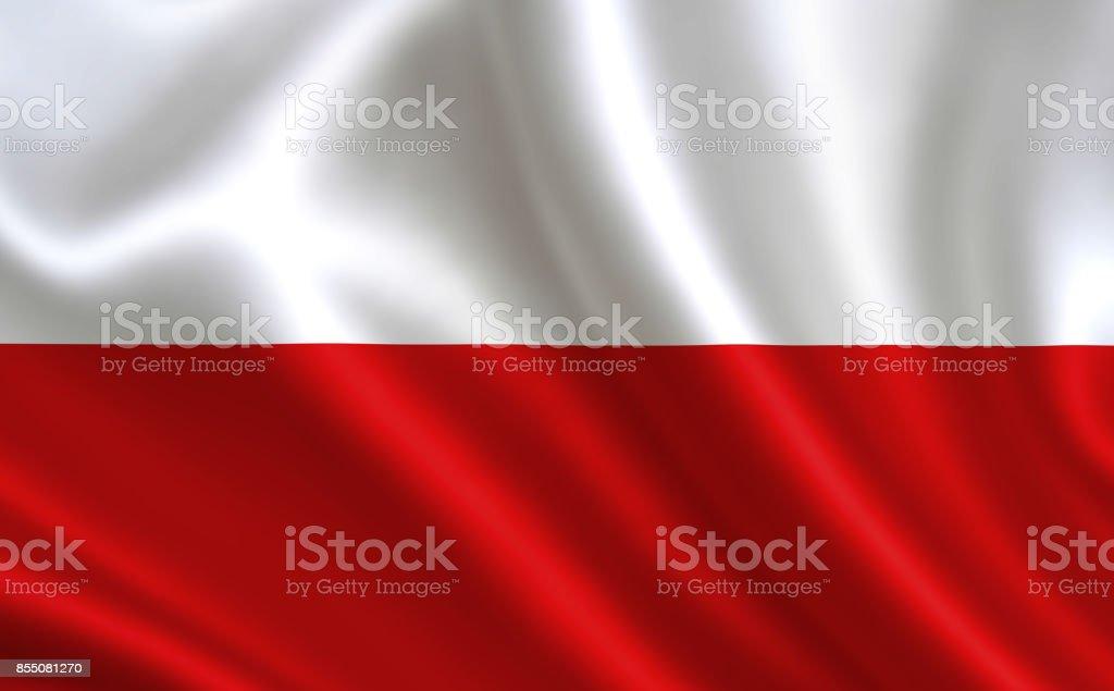Flag of Poland.Teil der Serie.