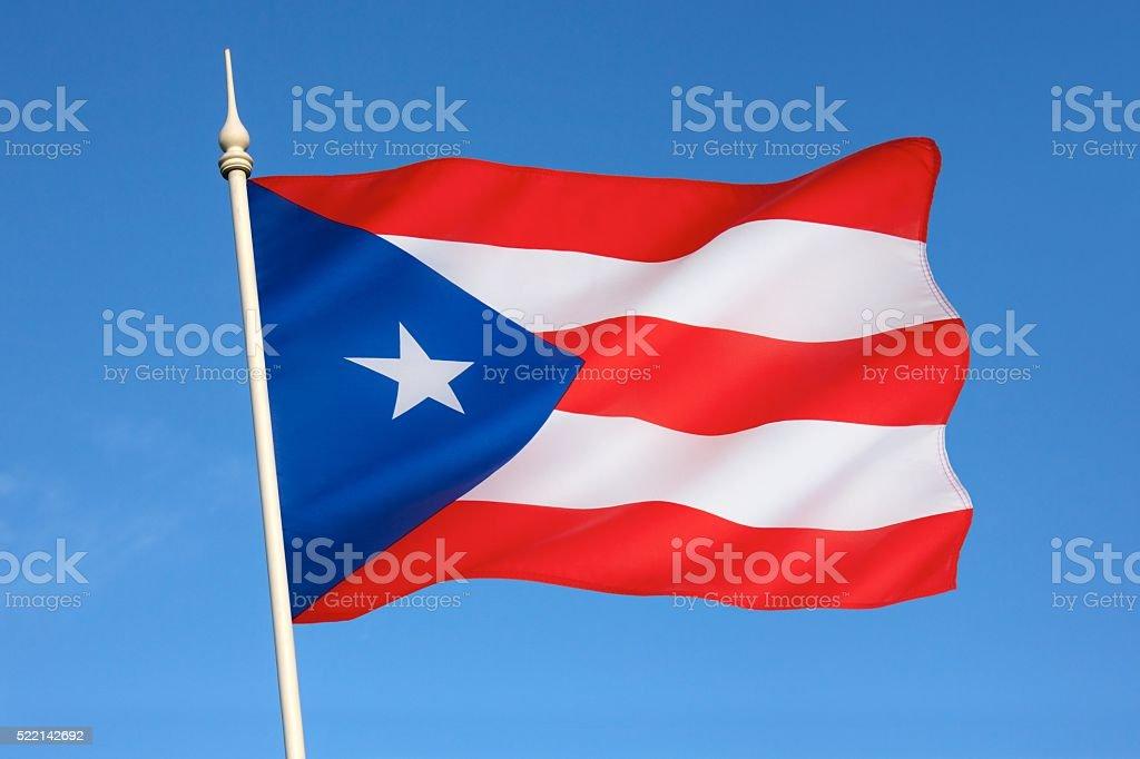Bandera de Puerto Rico - foto de stock