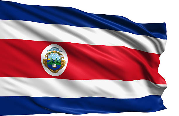 flag of Republic of Costa Rica - foto de stock