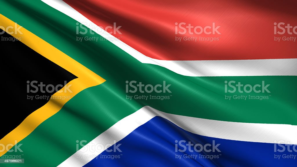 flag of Republic of South Africa stock photo