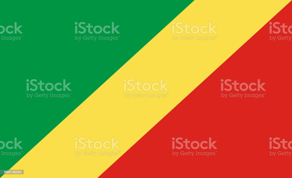 Flag of Republic of the Congo stock photo
