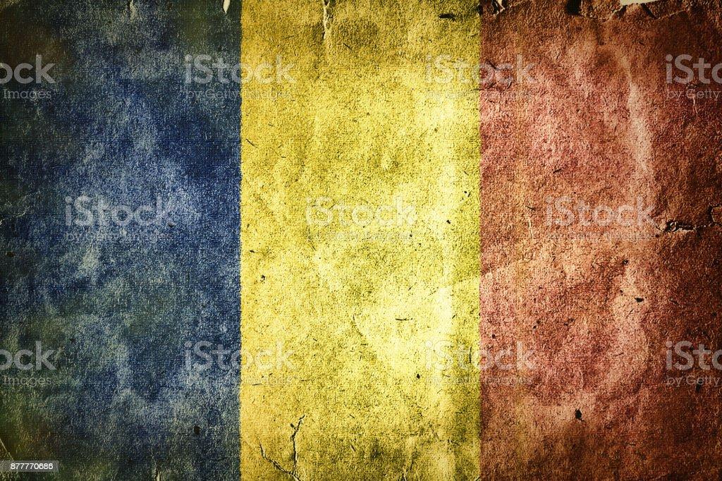 Flag of Romania stock photo