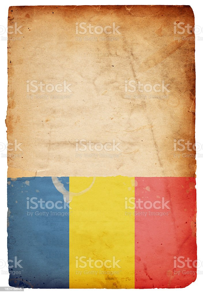 Flag of Romania - XXXL royalty-free stock photo