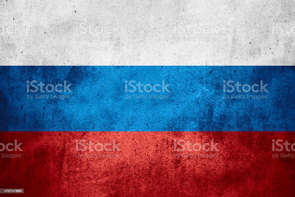 Russian Flag In